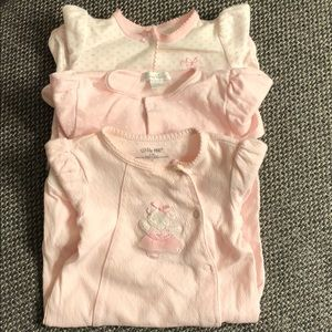 Assorted Baby Girl Footed Long-Sleeves Onesies
